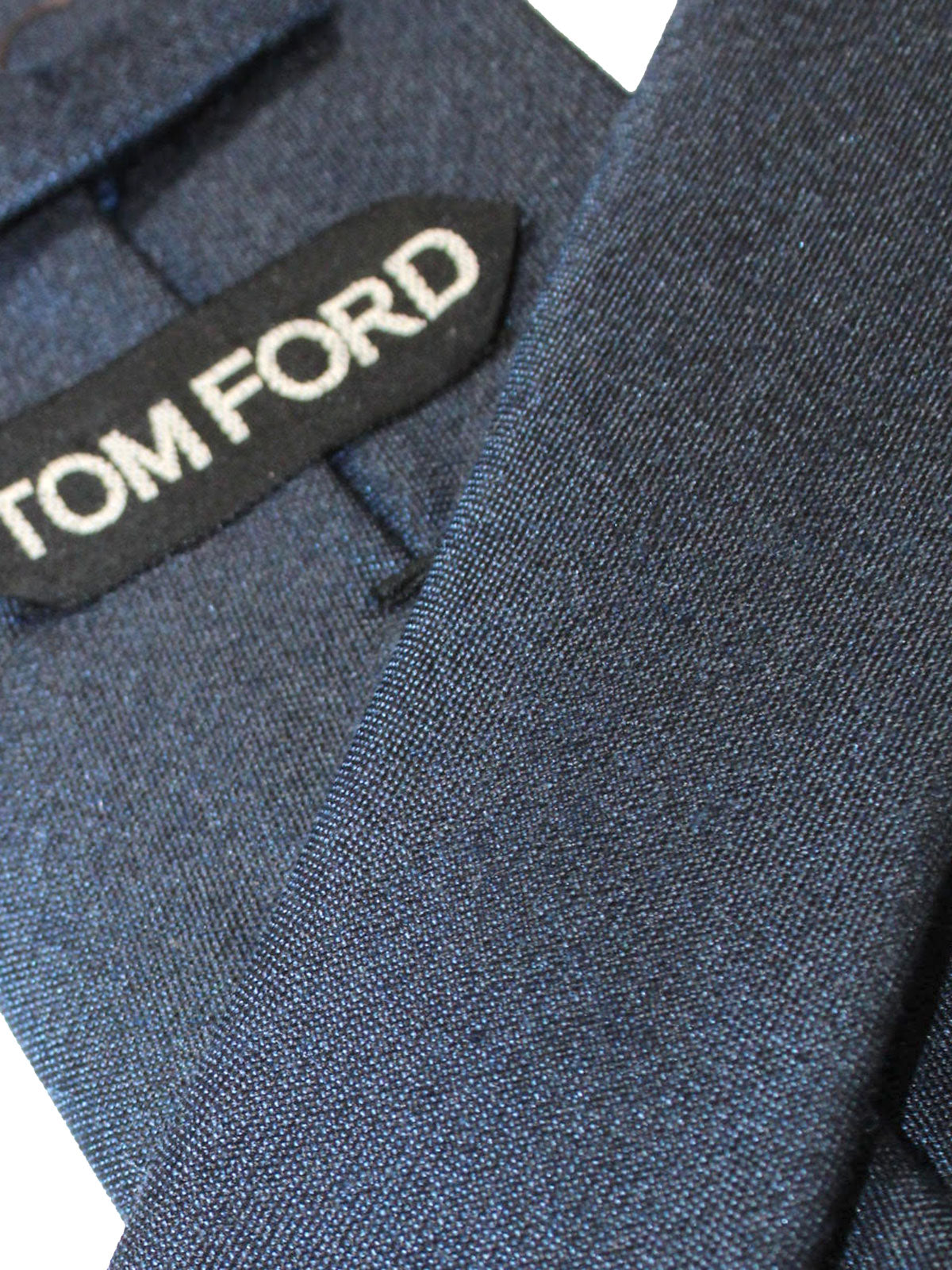 Tom Ford Tie Dark Blue Solid Design