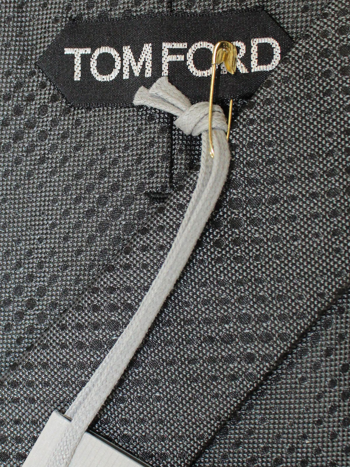 Tom Ford Tie Dark Gray Glencheck Design
