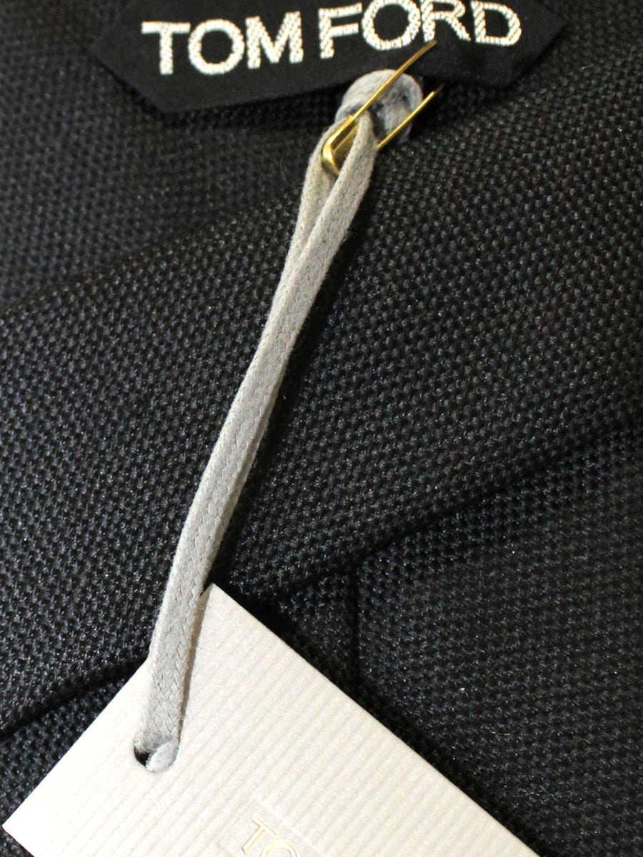 Tom Ford Linen Tie Black Solid