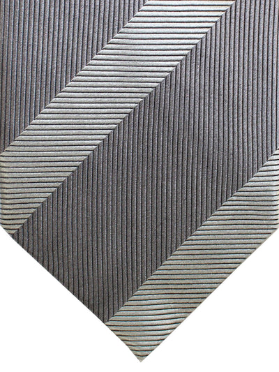 Tom Ford Tie Gray Stripes - Wide Necktie