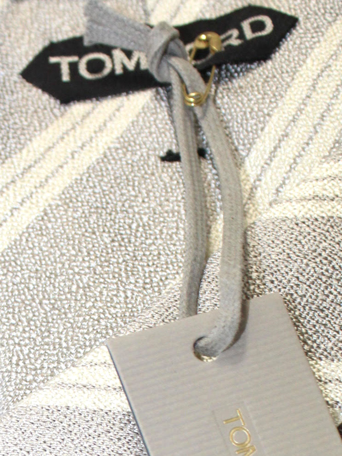 Tom Ford Tie Gray Silver Stripes