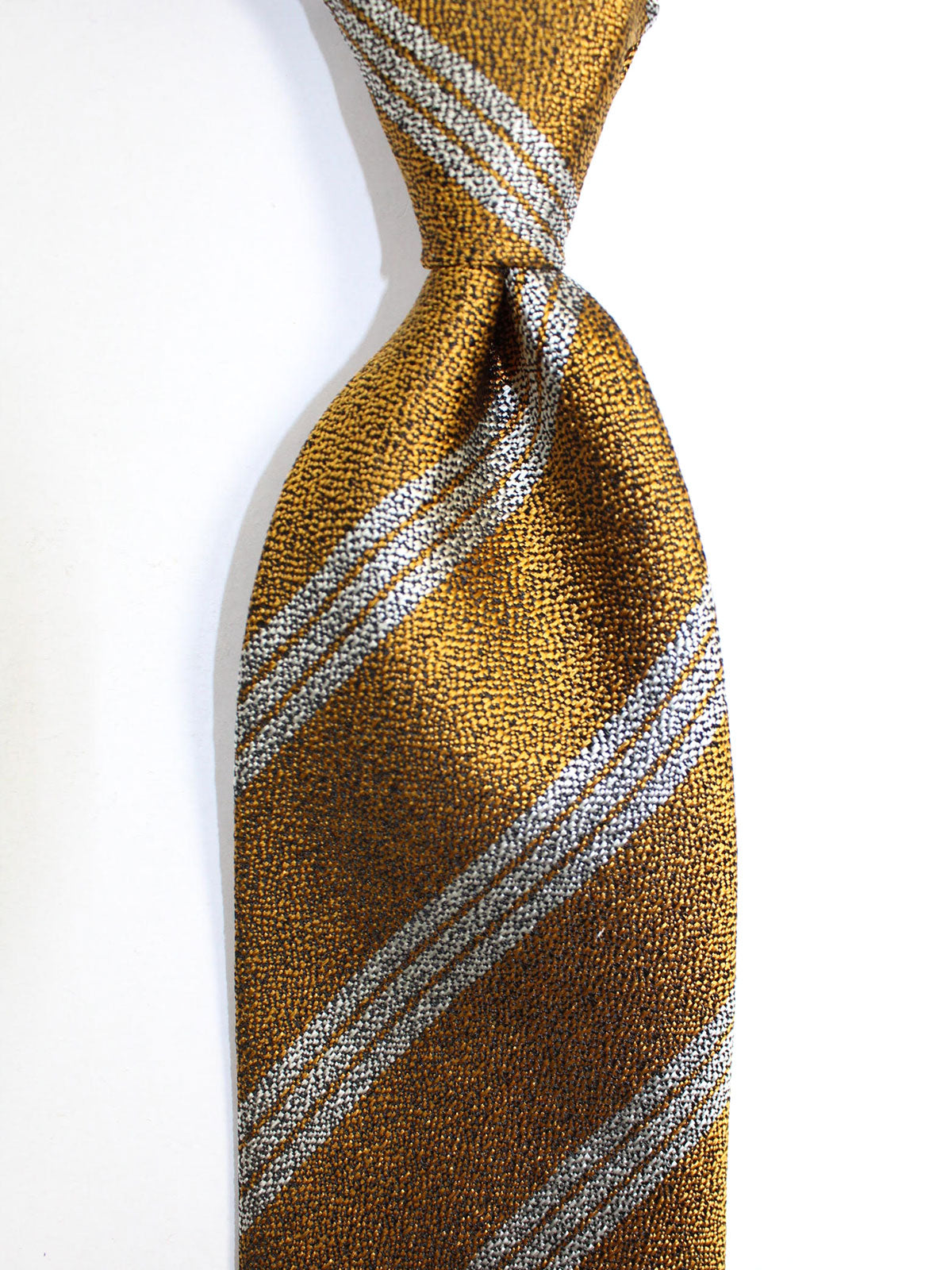 Tom Ford Silk Tie Mustard Stripes Design