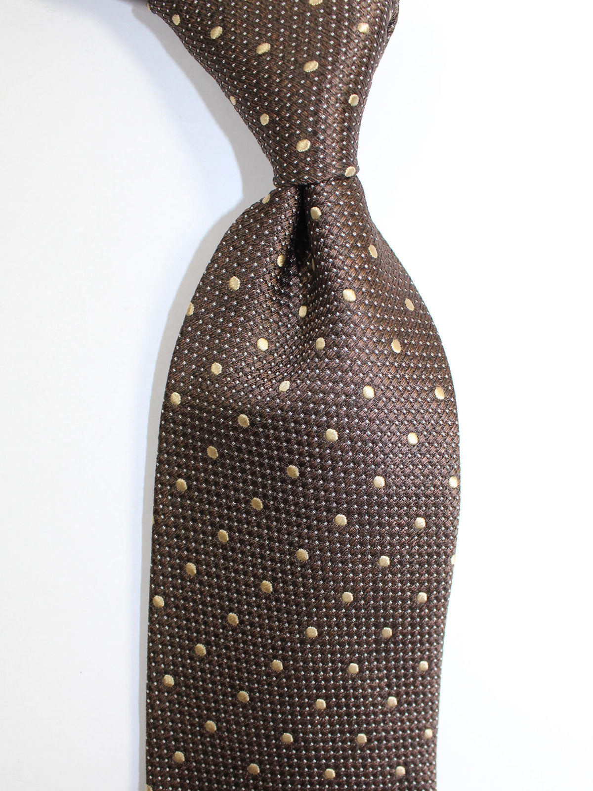 Tom Ford Silk Tie Brown Dots Design