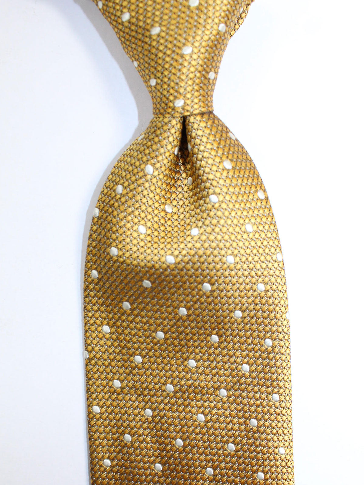Tom Ford Silk Tie Mustard Dots Design