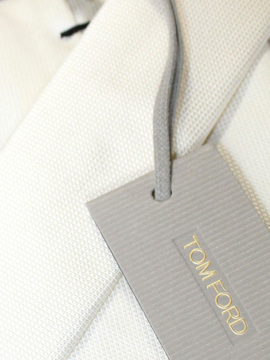 Tom Ford Silk Tie White Solid Design
