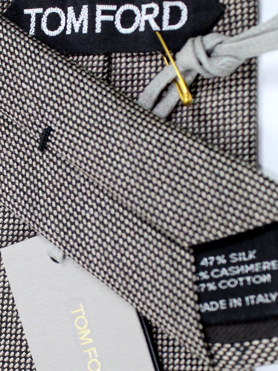 Tom Ford Tie Taupe Gray Cashmere Silk