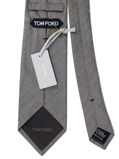 Tom Ford Tie Taupe Gray Cashmere Silk SALE