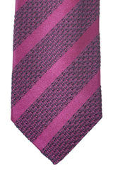 Tom Ford Tie Wine Purple Dark Gray Stripes