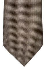 Tom Ford Silk Tie Brown Geometric
