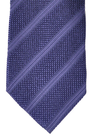 Tom Ford Tie Purple Silver Stripes Design
