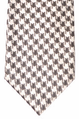 Tom Ford Tie Gray Silver Herringbone Design
