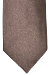 Tom Ford Tie Taupe Solid Silk Necktie