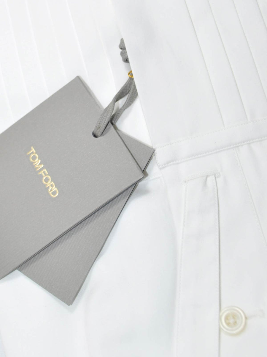 Tom Ford White Tuxedo Shirt  New