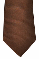 Turnbull & Asser Tie Brown Grosgrain