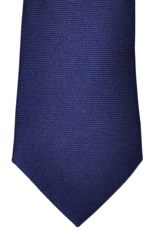 Turnbull & Asser Tie Navy Solid Grosgrain