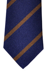 Turnbull & Asser Tie Navy Brown Stripes