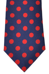 Turnbull & Asser Tie Navy Red Polka Dots