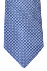 Turnbull & Asser Tie Navy Blue Geometric