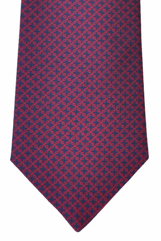 Turnbull & Asser Tie Navy Red Geometric Fall/ Winter 2016/ 2017