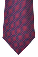 Turnbull & Asser Tie Navy Red Geometric