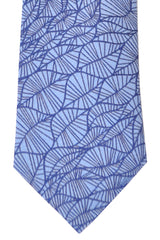 Turnbull & Asser Tie Sky Blue Navy Leaves