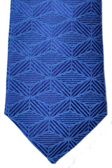 Turnbull & Asser Tie Blue Geometric Silk Blend