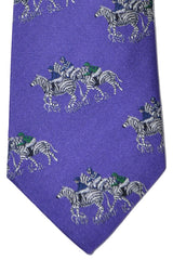 Turnbull & Asser Tie Purple Zebra Silk Blend