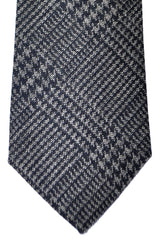 Turnbull & Asser Tie Navy Gray Herringbone
