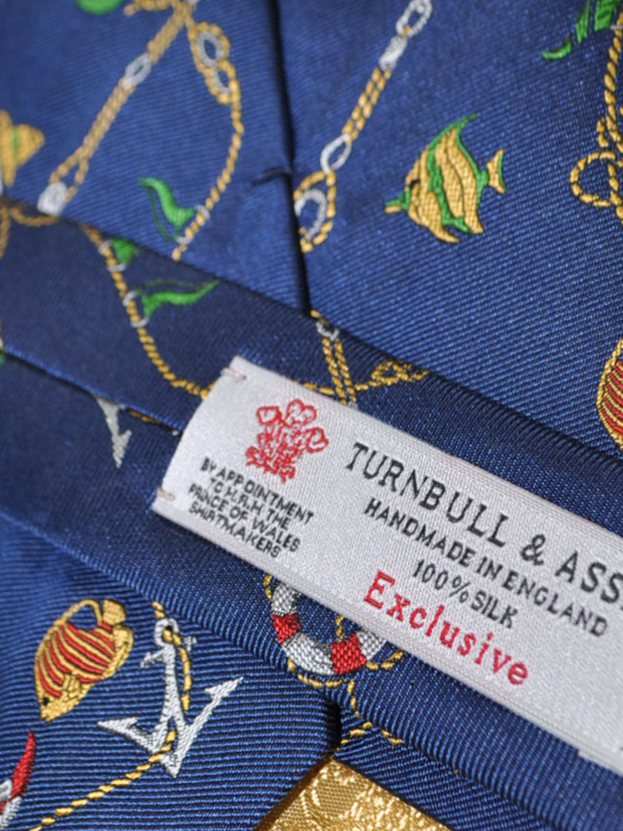 Turnbull & Asser Tie Navy Design