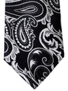Turnbull & Asser Silk Tie Black Gray Paisley SALE