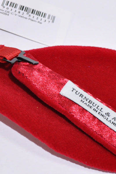 Turnbull & Asser Red Self Tie Bow Tie