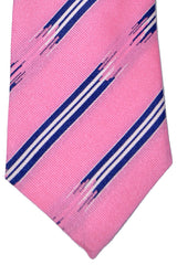 Turnbull & Asser Tie Pink Broken Stripes