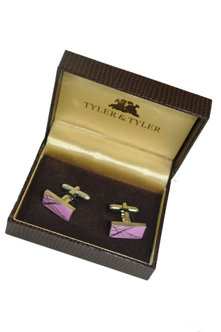 Tyler & Tyler Cufflinks Lilac Diffusion