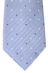 Valentino Tie Gray Navy Blue Dot