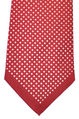 Valentino Silk Tie Dark Red Silver Geometric