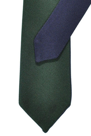 Valentino Skinny Tie Green Navy Double Sided