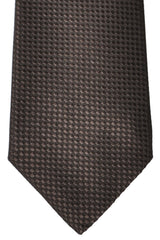 Valentino Silk Tie Brown Geometric