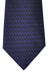 Valentino Silk Tie Purple Black
