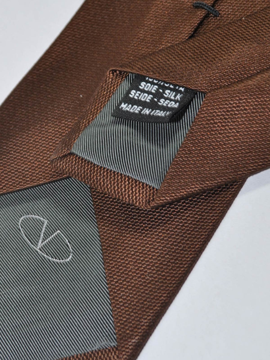 Valentino Silk Tie Solid Brown
