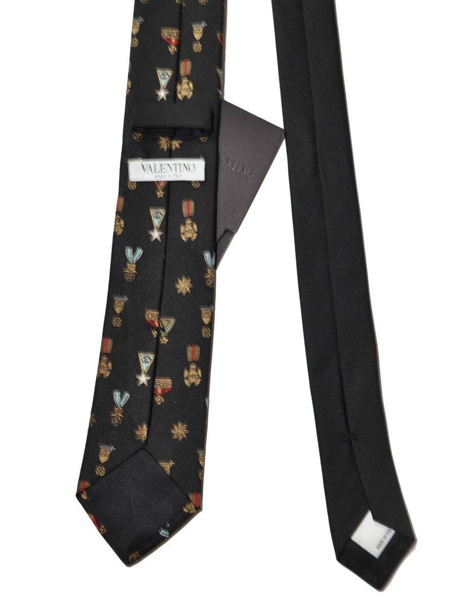 Valentino Tie Medals Design Military Decorations Skinny Necktie SALE