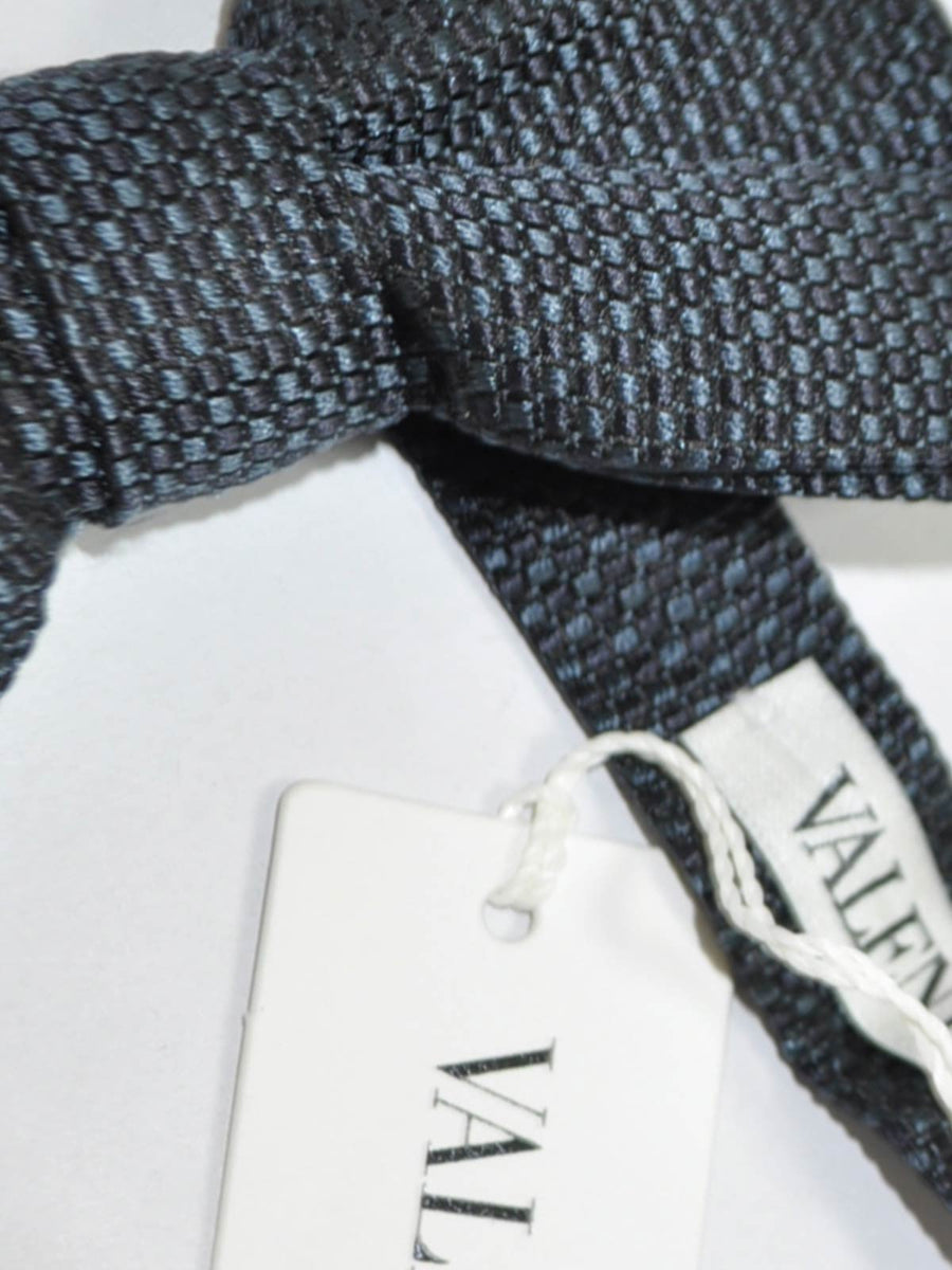 Valentino Silk Bow Tie Gray Design SALE