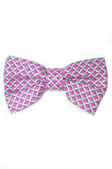 Valentino Bow Tie Fuchsia-Pink Gray FINAL SALE