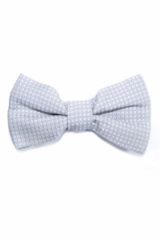 Valentino Silk Bow Tie Gray Silver Houndstooth FINAL SALE