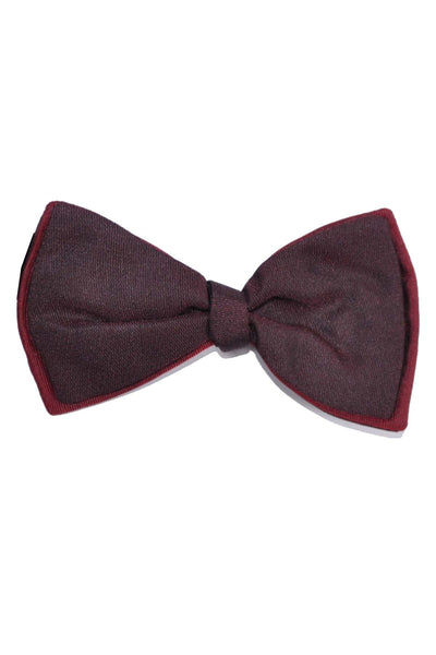 Valentino Bow Tie Maroon Brown Double