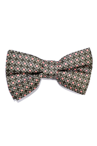 Valentino Bow Tie Forest Green Geometric - FINAL SALE