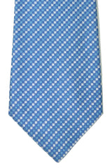 Valentino Tie Blue Teal Squares