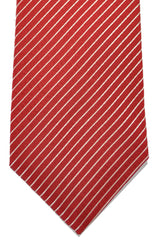 Valentino Tie Red Silver Stripes