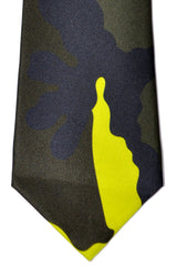 Valentino Tie Camouflage Lime Green