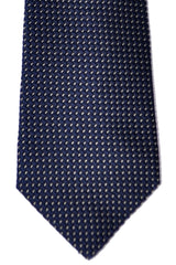 Valentino Silk Tie Navy Silver Mini Dots