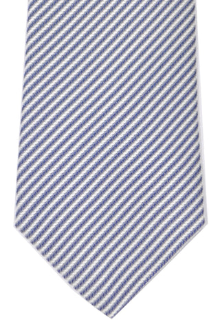 Valentino Tie Navy Silver Stripes SALE
